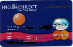 ING Direct debit card