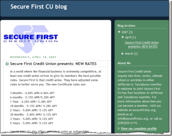 Secure One CU blog