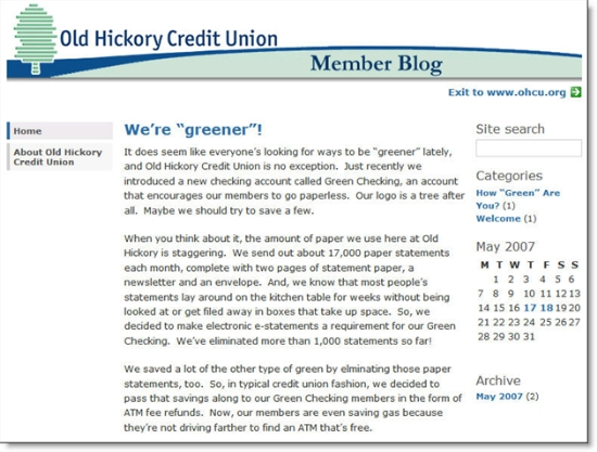 Old Hickory CU blog