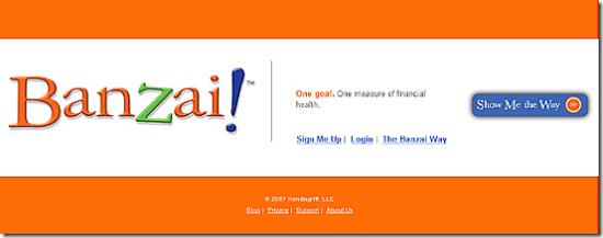 Banzai homepage