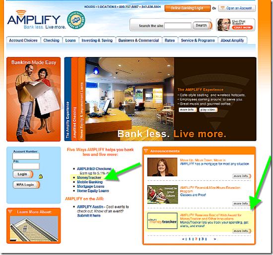 Amplify CU homepage 5 Sep 2007