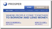 Prosper homepage