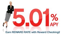 Reward Checking banner at First State Bank (13 Aug 2008)
