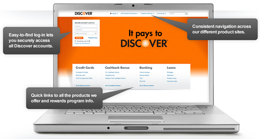 New Discover homepage