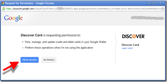 "Google ""Add Card to Wallet"" API confirmation"