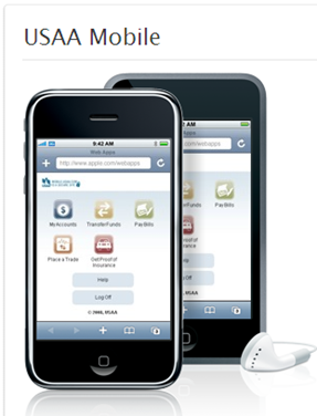 USAA iPhone mobile banking app (July 2008)
