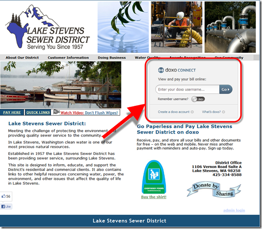 doxo payment at Lake Stevens Sewer District