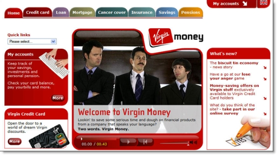 Virgin Money UK homepage
