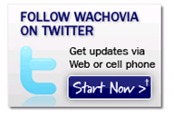 Link to Wachovia Twitter page