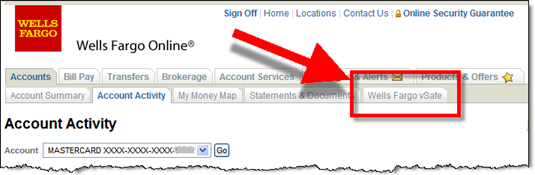 Wells Fargo vSafe last days on the online banking toolbar?