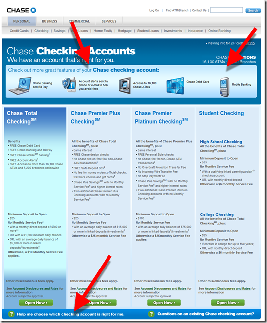 Chase Bank's Checking Account Recommender is Flawed - Finovate