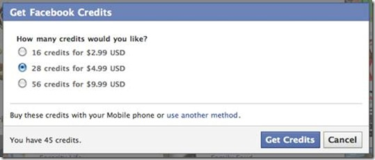 Step 1: Using Zong to purchase Facebook credits