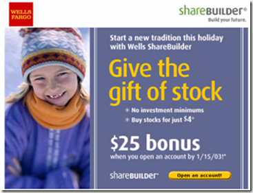 Wells Fargo/Sharebuilder email from Dec 2002