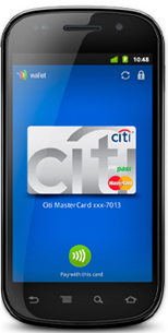Citibank inside google wallet