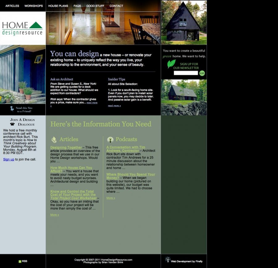 home design website. The  Maine Web Design Firefly