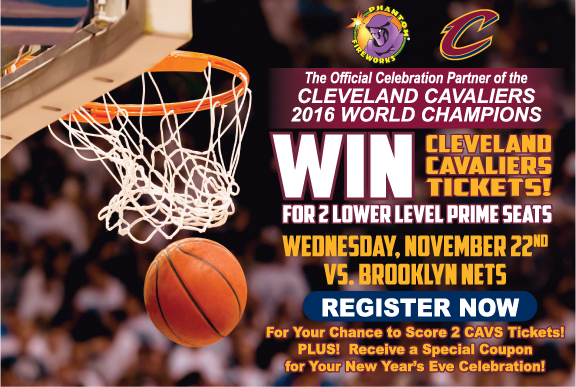 Win Cavs Playoff tickets with Phantom Fireworks