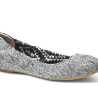 Tweed Lurex Women's Ballet Flats image