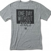 Unisex Heather Grey One Day Without Shoes Tee image