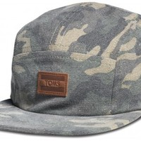 Unisex Washed Camo Five Panel Hat image
