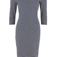 Jocelyn stripe fitted dress image