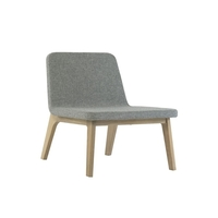 Addinterior LEAN Lounge chair grey and nature oak image