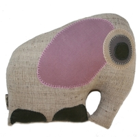 Musahar Organic Pillow - Mother Elephant Rose image
