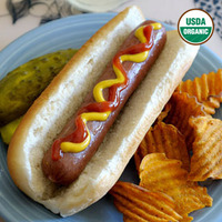 Organic Uncured Grassfed Beef Hot Dogs image