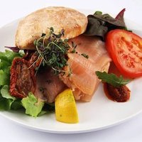 Sandwich with salmon image