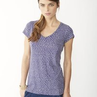 Basic Printed V-Neck T-Shirt image