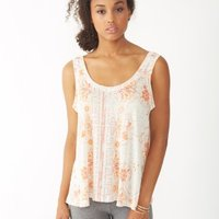 Mosaic Two Tone Linen Tank Top image