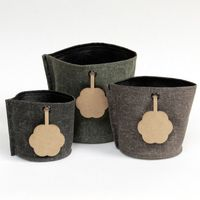 Canvas pots with message label image