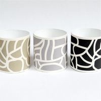 Printed hand made paper pots image