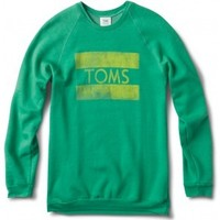 Men's Heather Green Grass TOMS Classic Crew image