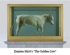 Damien Hirst's 'The Golden Cow'