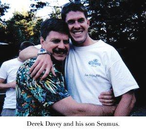 Derek Davey and his son Seamus.