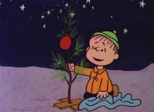 in a charlie brown christmas charlie browns quest to escape a melancholy brought on by the materialism and artificiality climaxes with linus powerful