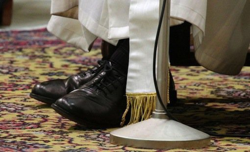Pope Francis black shoes