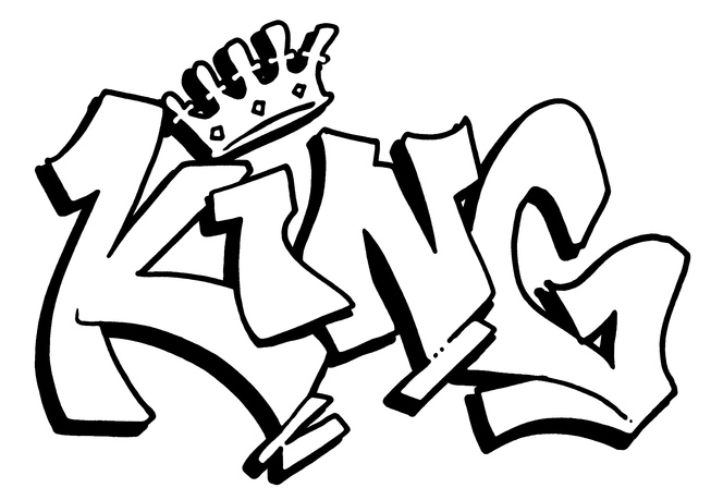 Cool Graffiti Coloring Pages King Coloring Pages Cool Graffiti Coloring Pages
