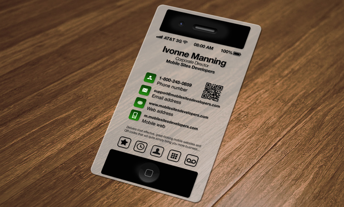 design a Transparent iPhone Business Card w QR Code fiverr