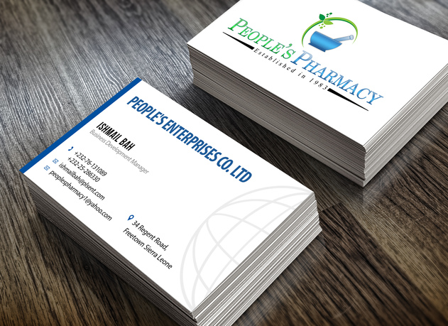 Design this modern double sided business card with qr code for Fiverr business cards