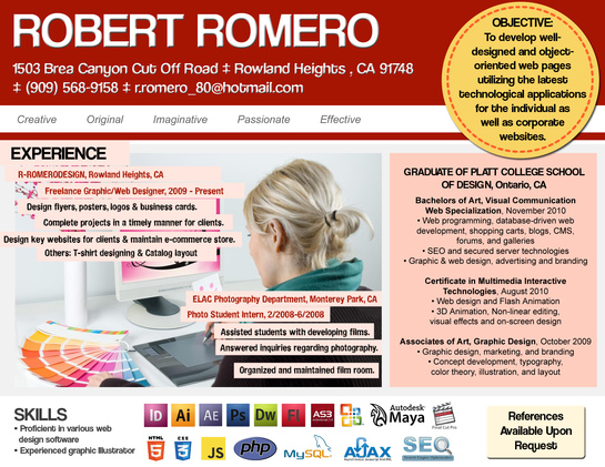 design a creative resume for you