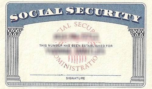 Modify any document create novelty social security card for Make a social security card template