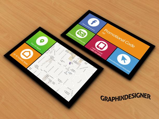 Design social media or windows style business card fiverr for Fiverr business cards