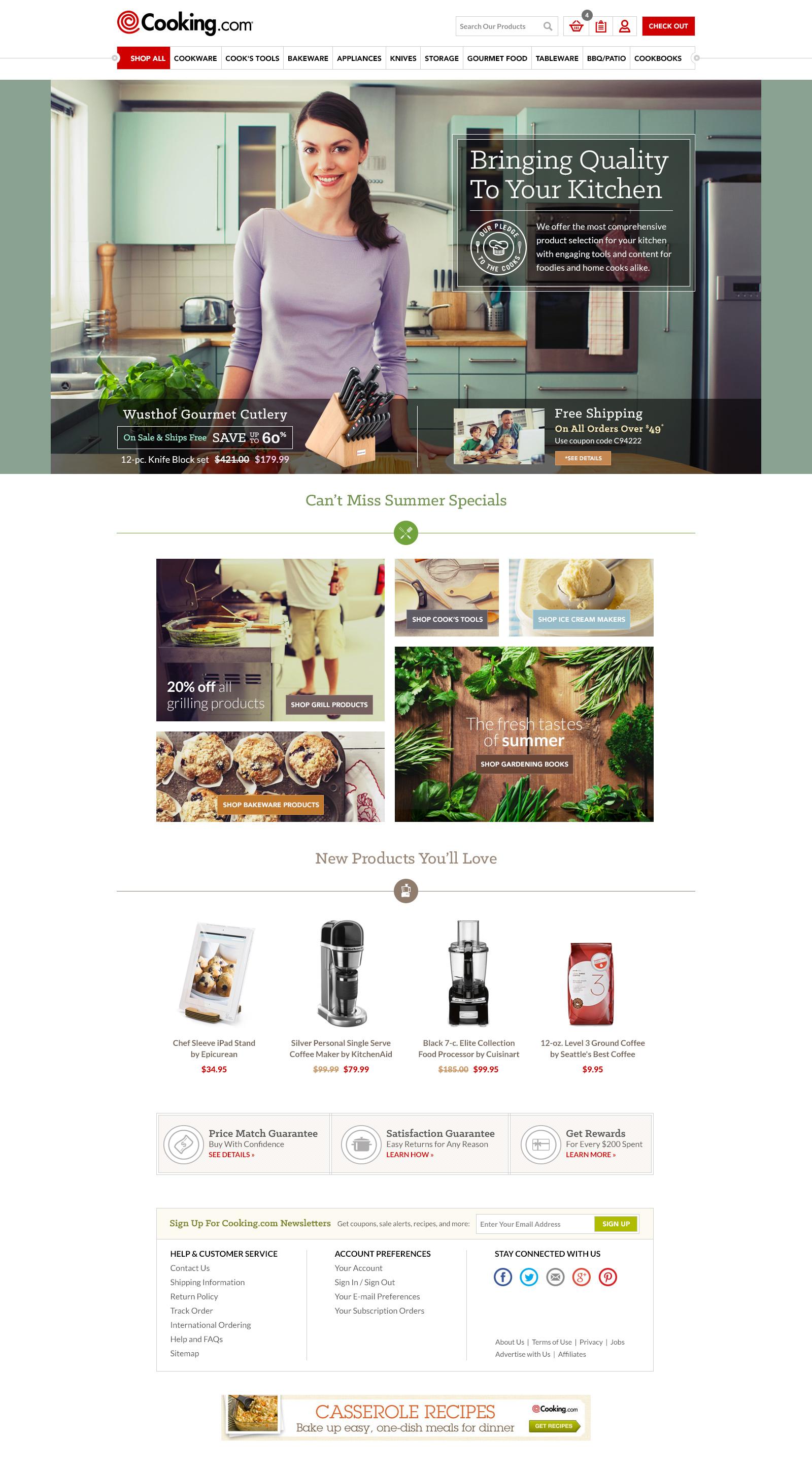 Cooking dot com homepage jk