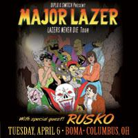 Major Lazer w/ Rusko: Main Image