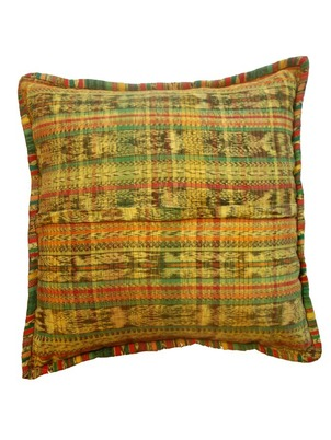 Yellow Mayan Pillow