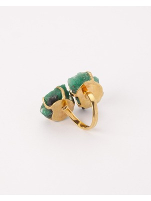 Adjustable Emerald Nuna Ring