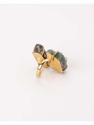 Adjustable Emerald Tita Ring