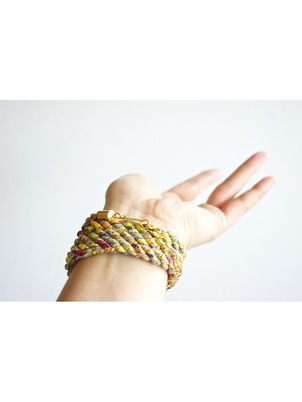 Handmade Braid Wrap Gold Bracelet