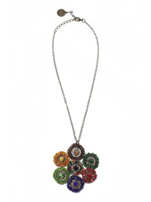 Handmade Beaded Flower Necklace